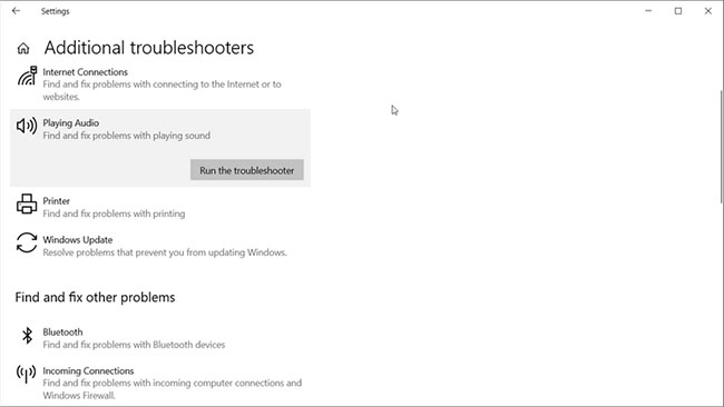Chạy Windows Audio Troubleshooter